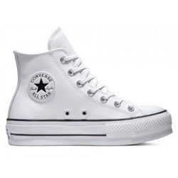 Pantofi sport femei cu platforma Converse Chuck Taylor All Star Lift Leather High 561676C