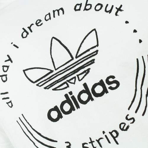 Tricou barbati adidas Originals Trefoil Hand Drawn T4 DH4771