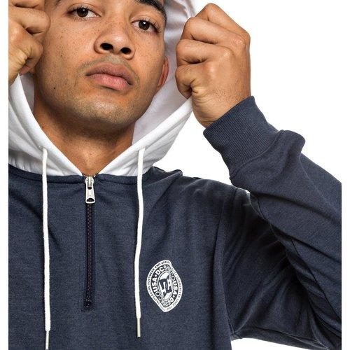 Hanorac barbati DC Shoes Rebel Half-Zip Hoodie EDYFT03433-BTL0