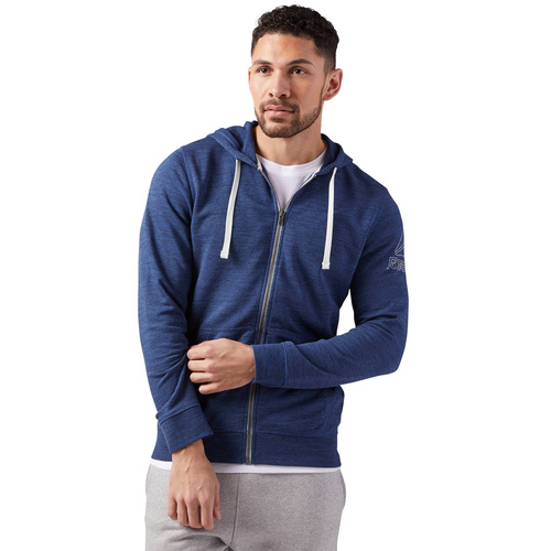 Hanorac barbati Reebok Fitness Elements Marble Group Full Zip CE3918